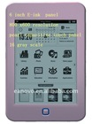 "6"" capacitive touch panel ebook reader with DRM function"