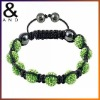 Wholesale Fashion Clay Bead Shamballa Bracelet with Crystal(BRC0002)