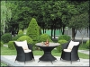 Roya outdoor coffe chair and table made of rattan LD2120