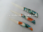 Ceramic cutlery Knife set colorful ABS TPR handle