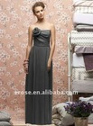 Classic Sheath/Column Strapless Long Bridesmaid Dresses With Flowers BD-C080