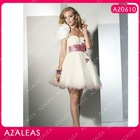AZ0610 Handmade Flower Feather Short Party Pattern Cocktail Dresses