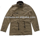 men khaki slim fit winter jacket