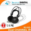 Sharing Digital High Quality Wireless IR Headphone For Car Audio Systems