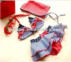 2013 Sexy Two-piece Ruffled Swimming set Beach Wear for children 4t-12t