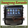 Car gps for Ssangyong Korando with dvd player bluetooth Ipod control 3G USB HOST Free map!