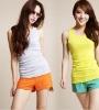 ef2703 Plain Knit With Back Women Skinny Cotton Vest 2012