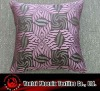leaf jacquard cushion cover