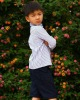 T10022 Classic 100% cotton formal full sleeve boys spring T-shirt with bow,European material,child clothing