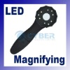 LED light illuminated magnifier with handle