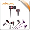new designed metal best quality earphone with micrphone and volume control