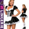 Sexy french maid costume hot, Ladies lingeie costume, fancy dress