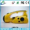 hand crank dynamo flashlight FM/AM radio LMD-F16