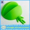 Silicone mobile phone base holder for mobile phone use