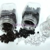 black silicone micro link/micro beads/micro rings