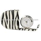 1003 leather travel clock
