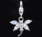 Dragonfly Clip On Charms. Fit Link Chain Bracelet