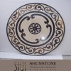 Stone Waterjet Pattern and Medallion