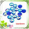 flat round shape lucite beads