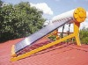 East install solar water heater slant roof mounted