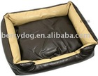 fake leather dog beds