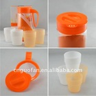 tea pot set Plastic Cup Set travel tea set