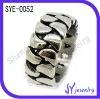 High quality stainless steel men ring with relatively sawtooth
