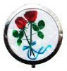 cosmetic mirror with rose flower SCM013