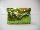 colorful sequin name card holder