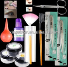 easy pack false eyelash extension kit with curlers rods