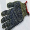7gauge string knitted kevlar security glove with pvc dots