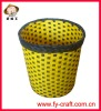 Promotion!Hand-woven decorative waste paper basket