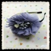fashion purple crystal chiffon flower headbands