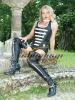 Authentic leather corset SILIM 10 CM Immediately leather steel boned korsett CST-93203