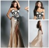 2012 New Fashion Sweetheart Appliqued Split Front Custom Made Sexy Evening Dresses