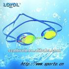 Racing swim goggle with silver mirror