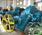 Horizontal turgo turbine