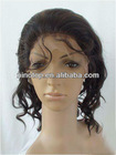 10inch High quality Full Lace Wigs 100% Indian Remy Human Hair Wig Body Wave #1b natural black