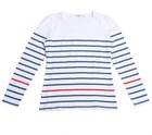 Fashion Lady Striped T-shirt Long Sleeve