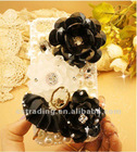 Black flower Ballet Girl design bling phone case for iphone 5/4/4s