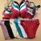 1.05USD High Quality Stripe Type Ladies Sexy Bra And Panty New design 34-38 B Cups(kctz006)