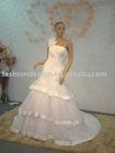 REAL261 Top quality designer one shoulder lace appliques wedding dress