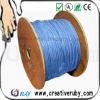 Good quality!24AWG Cat6 CCA Lan Cable 0.5mm light blue