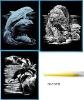 SILF-SET 1, engraving art card,scratch art card ,promotion gift