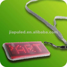 Keys programmed LED badge with chain