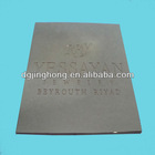zinc alloy square metal plate(80*80*1.5mm)