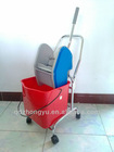 strong hand pressure easy mop patented product cleaning mop trolleys with wheel