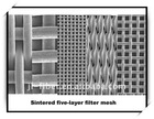 sintered five-layer filter mesh