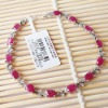 white gold genuine gemstone ruby bracelet 00107839