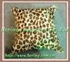 Leopard Print Rabbit Fur Cushions